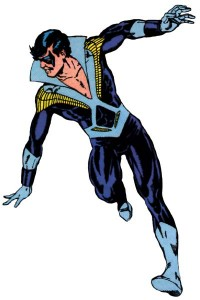 Could I just say that Nightwing's original costume is one of the ugliest things I've ever seen?